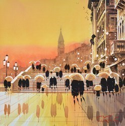 Sundown, Venice by Peter J Rodgers -  sized 21x21 inches. Available from Whitewall Galleries